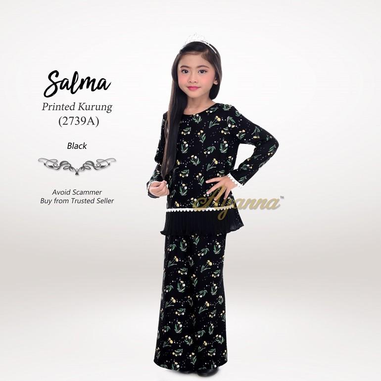 Salma Printed Kurung 2739A (Black)