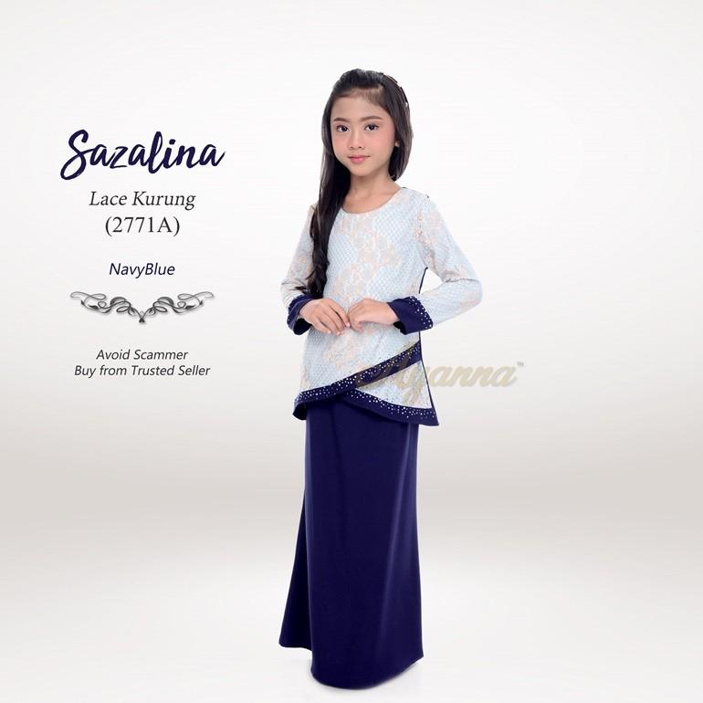 Sazalina Lace Kurung 2771A (NavyBlue)