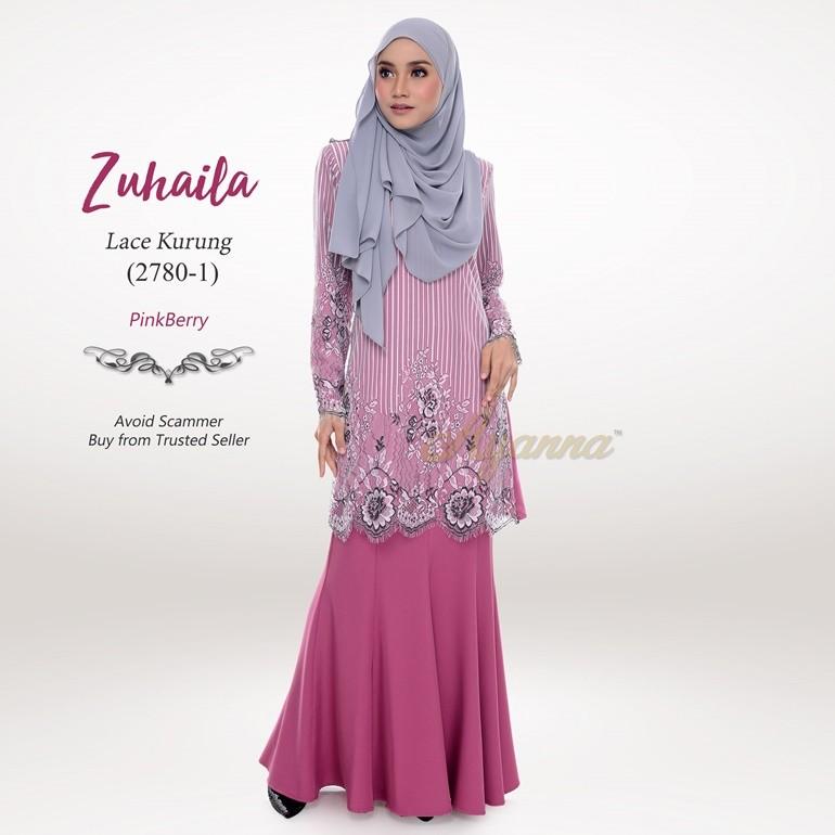 Zuhaila Lace Kurung 2780-1 (PinkBerry)