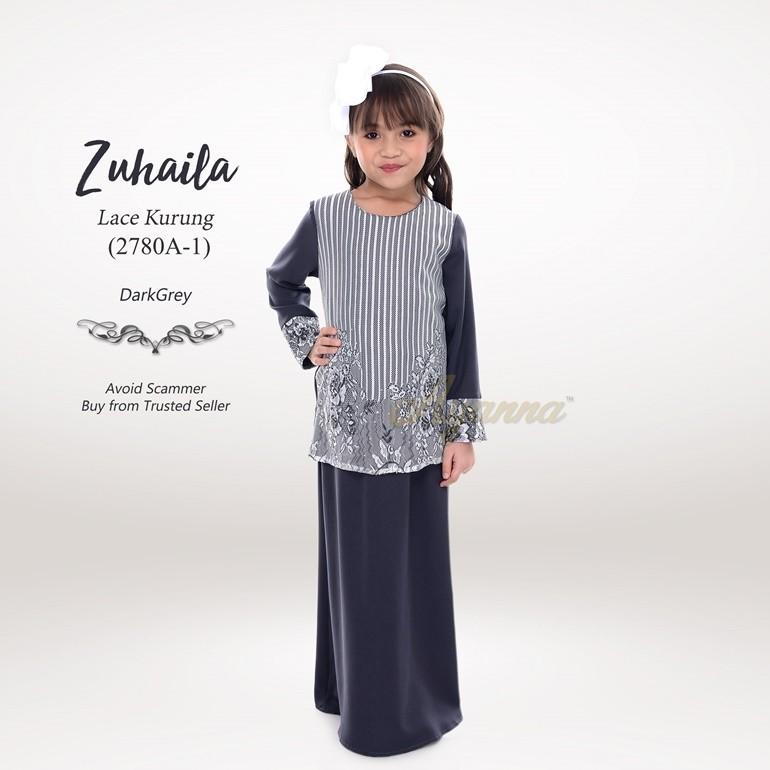Zuhaila Lace Kurung 2780A-1 (DarkGrey)