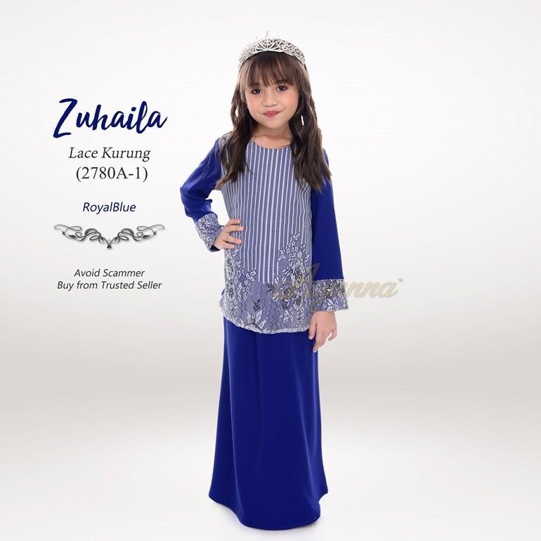 Zuhaila Lace Kurung 2780A-1 (RoyalBlue)