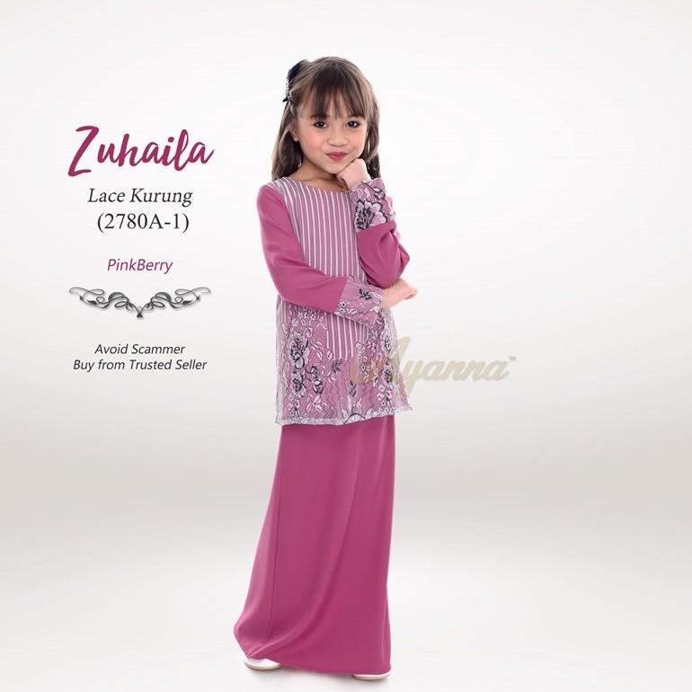 Zuhaila Lace Kurung 2780A-1 (PinkBerry)