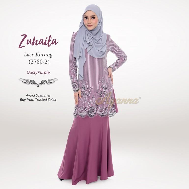 Zuhaila Lace Kurung 2780-2 (DustyPurple)