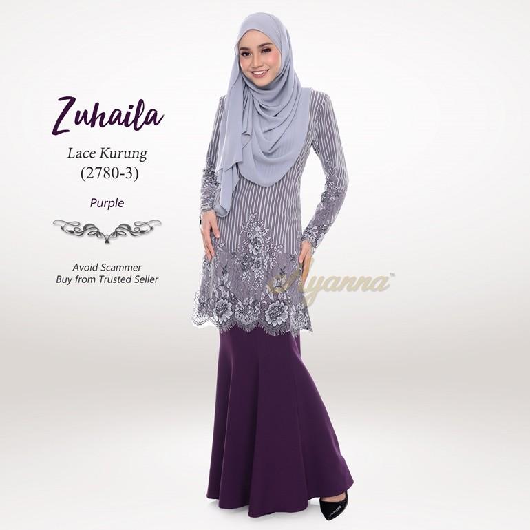 Zuhaila Lace Kurung 2780-3 (Purple)