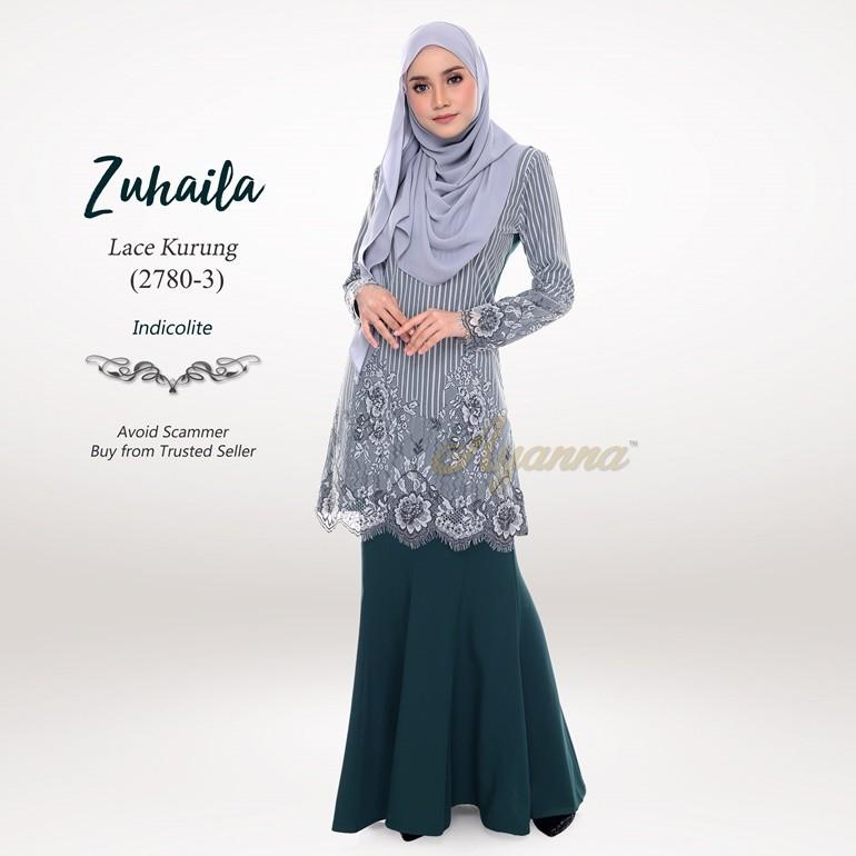 Zuhaila Lace Kurung 2780-3 (Indicolite)