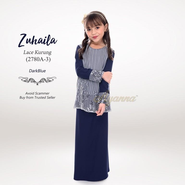 Zuhaila Lace Kurung 2780A-3 (DarkBlue)