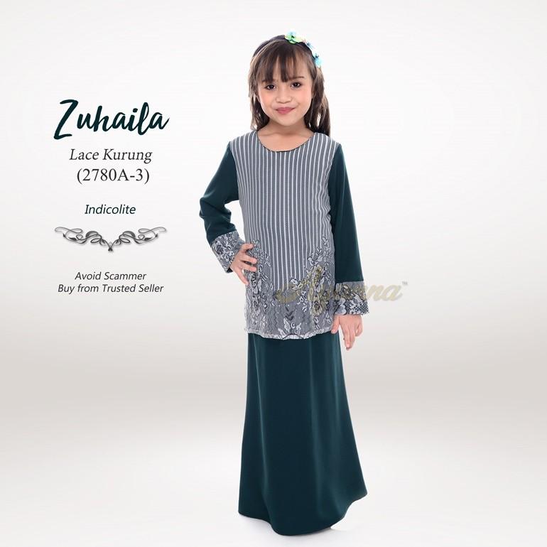 Zuhaila Lace Kurung 2780A-3 (Indicolite)