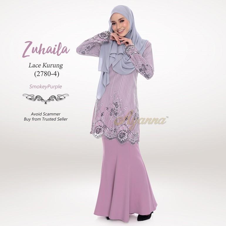 Zuhaila Lace Kurung 2780-4 (SmokeyPurple)