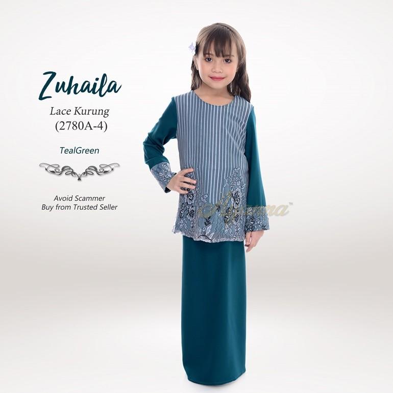 Zuhaila Lace Kurung 2780A-4 (TealGreen)