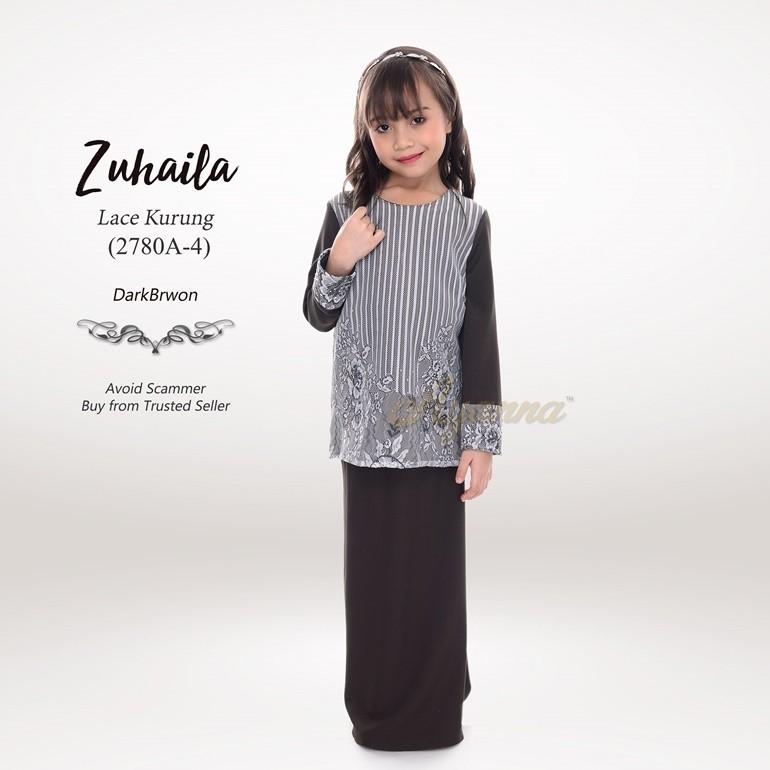 Zuhaila Lace Kurung 2780A-4 (DarkBrown)