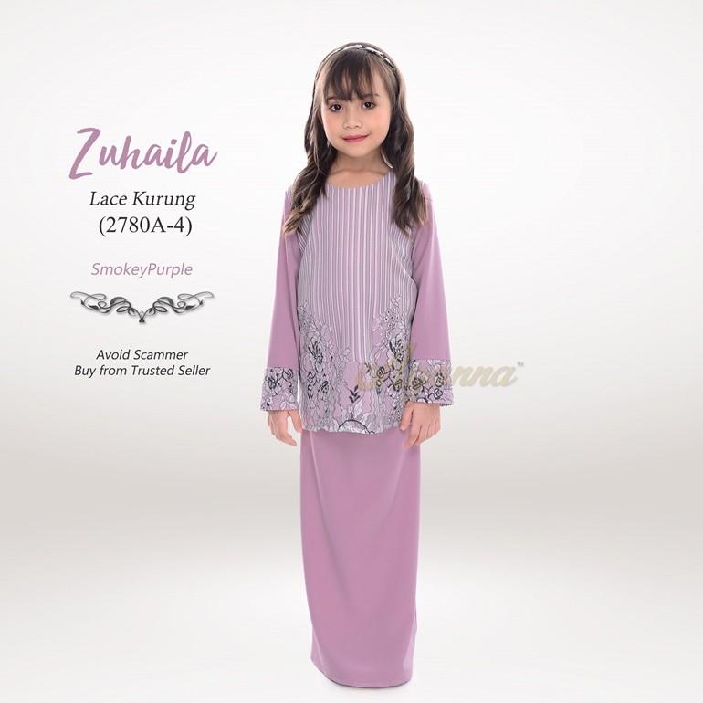 Zuhaila Lace Kurung 2780A-4 (SmokeyPurple)