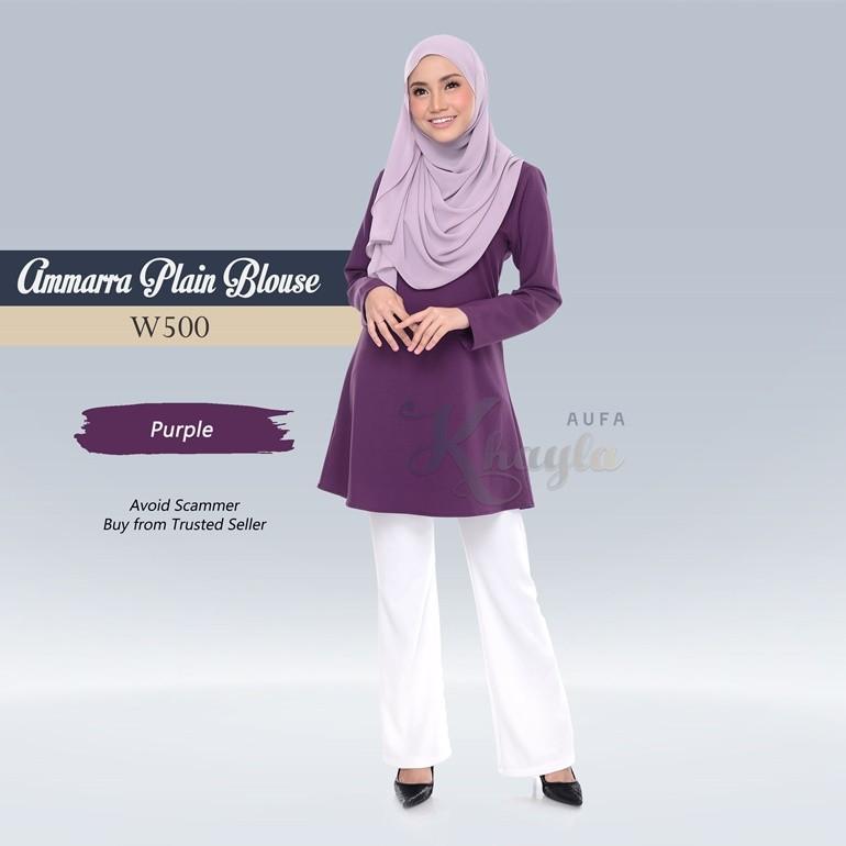 Ammarra Plain Blouse W500 (Purple)