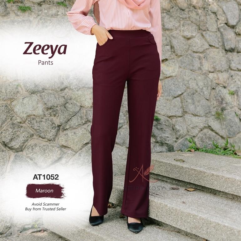 Zeeya Pants AT1052 (Maroon)
