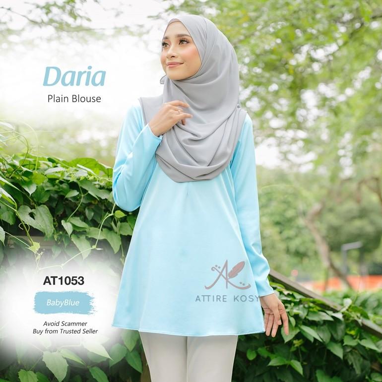 Daria Plain Blouse AT1053 (BabyBlue)