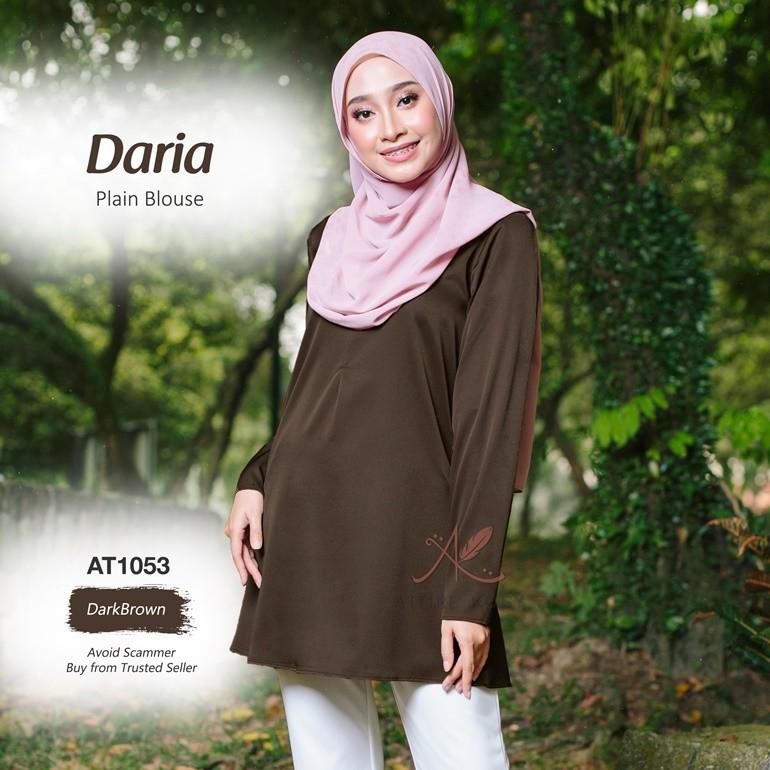 Daria Plain Blouse AT1053 (DarkBrown)