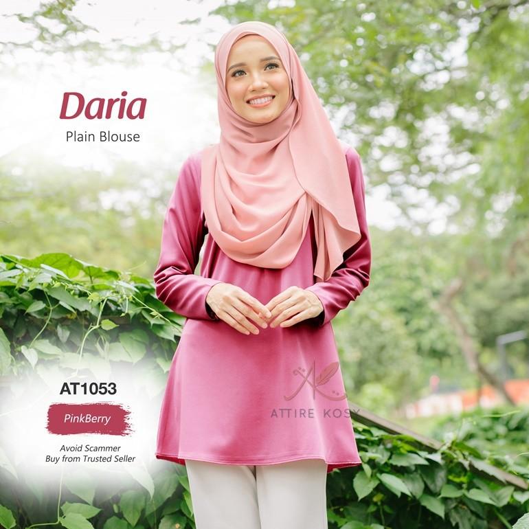 Daria Plain Blouse AT1053 (PinkBerry)