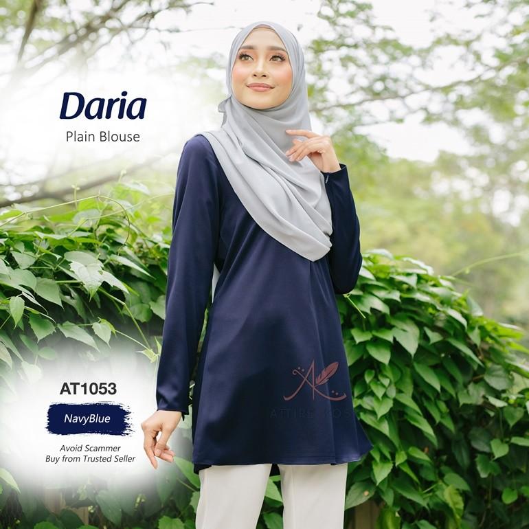 Daria Plain Blouse AT1053 (NavyBlue)