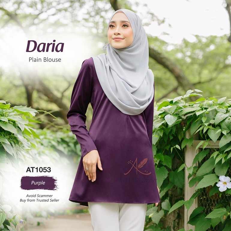 Daria Plain Blouse AT1053 (Purple)
