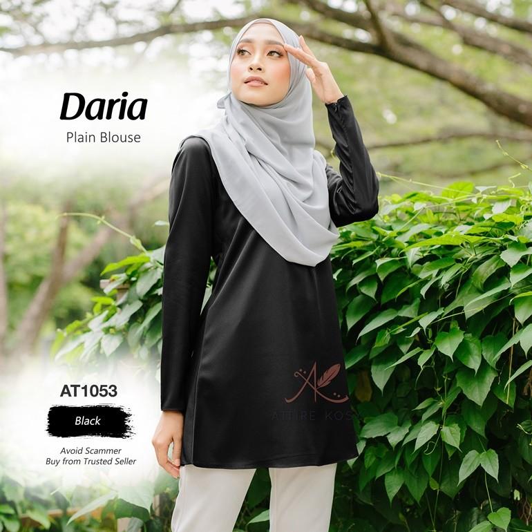 Daria Plain Blouse AT1053 (Black)