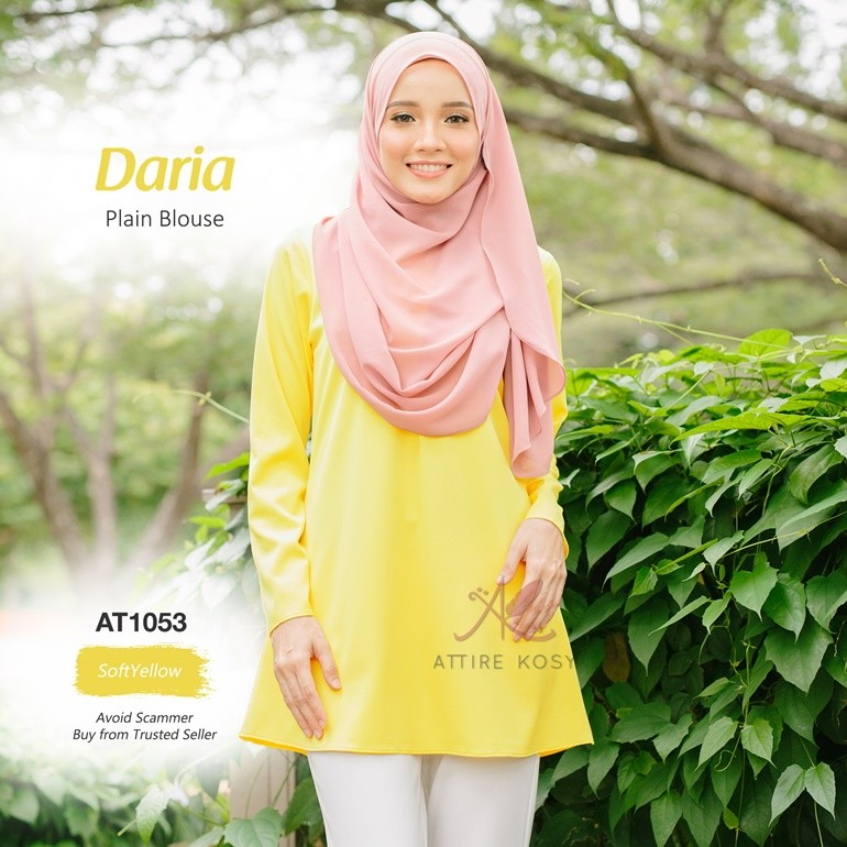 Daria Plain Blouse AT1053 (SoftYellow)