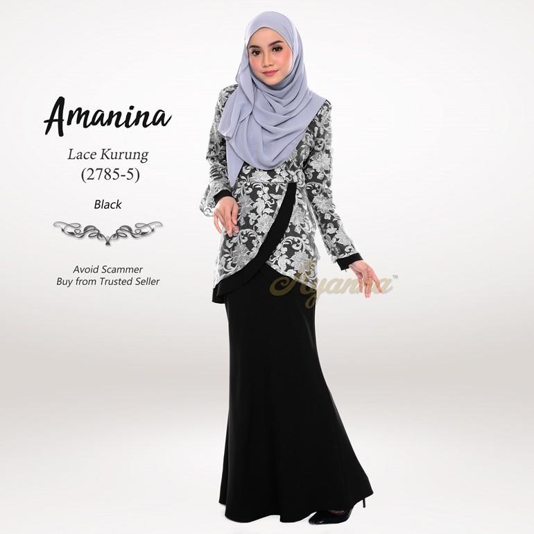 Amanina Lace Kurung 2785-5 (Black)