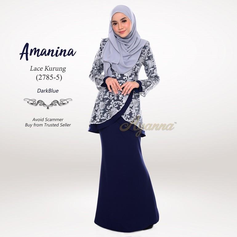 Amanina Lace Kurung 2785-5 (DarkBlue)