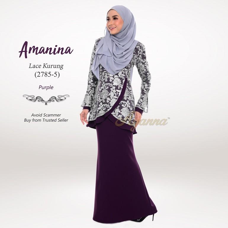 Amanina Lace Kurung 2785-5 (Purple)
