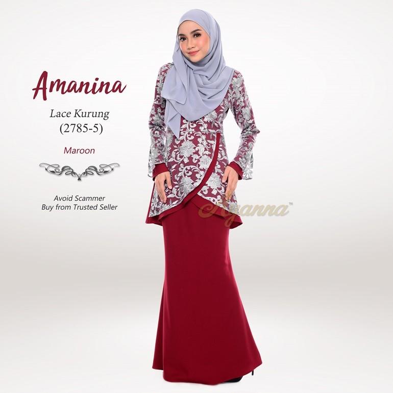 Amanina Lace Kurung 2785-5 (Maroon)