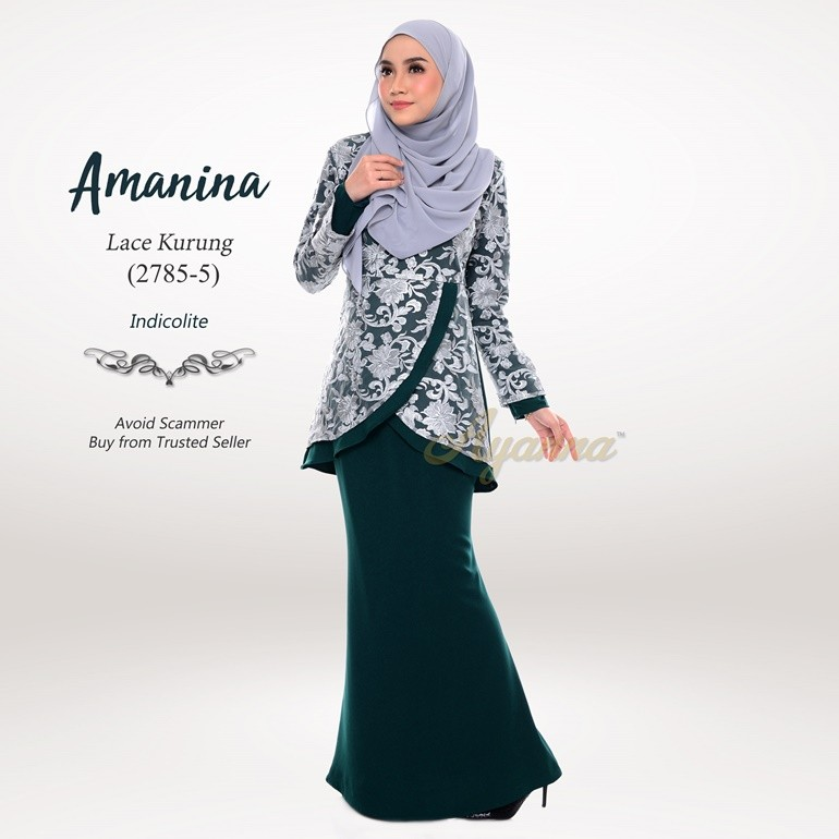Amanina Lace Kurung 2785-5 (Indicolite)