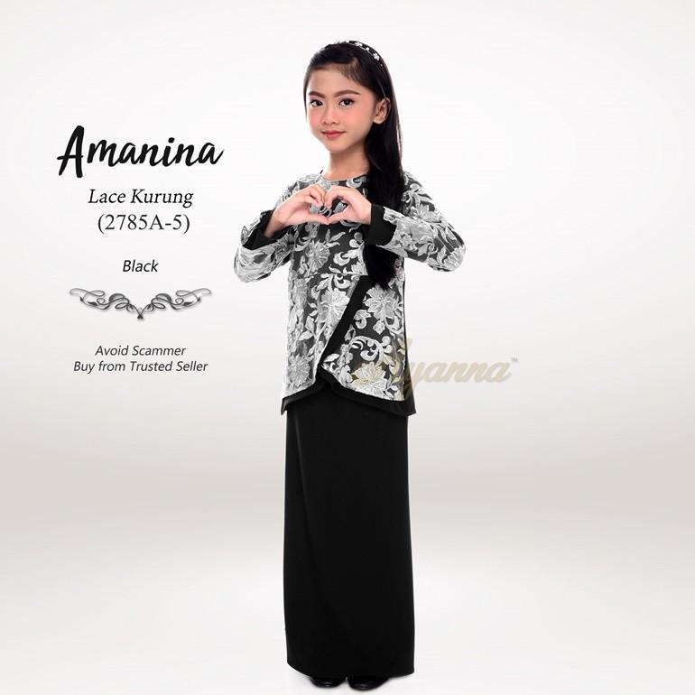 Amanina Lace Kurung 2785A-5 (Black)