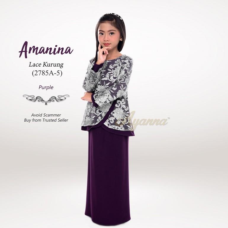 Amanina Lace Kurung 2785A-5 (Purple)