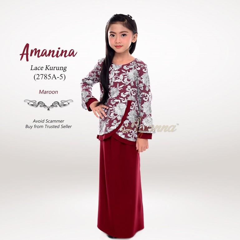 Amanina Lace Kurung 2785A-5 (Maroon)