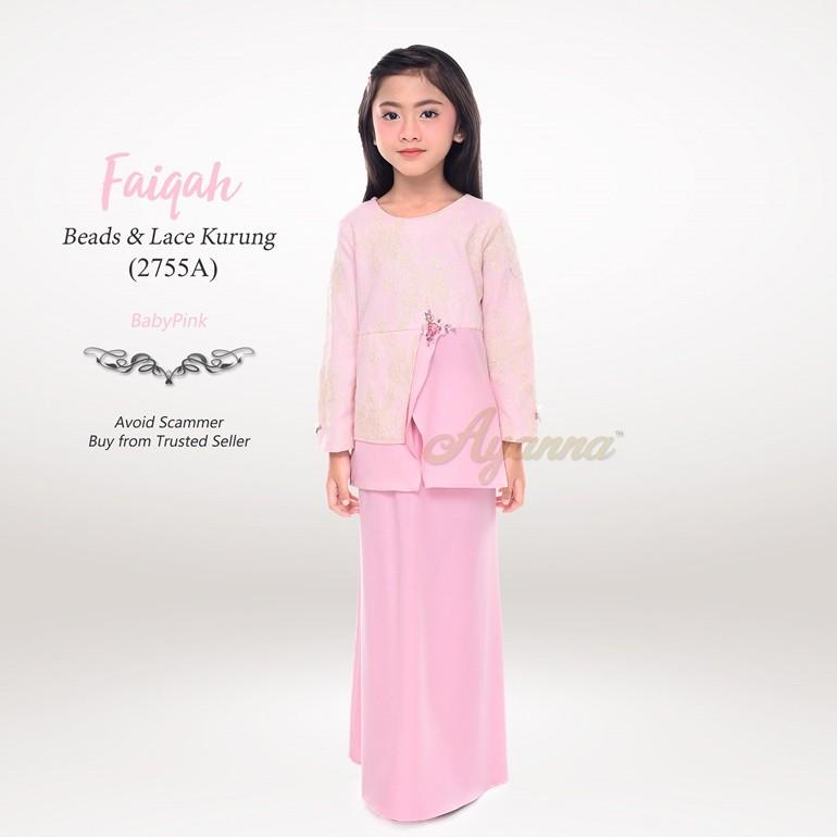 Faiqah Beads & Lace Kurung 2755A (BabyPink)