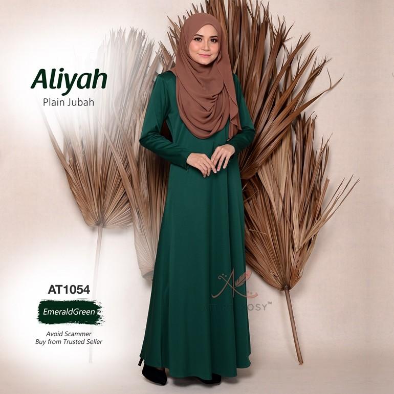 Aliyah Plain Jubah AT1054 (EmeraldGreen)