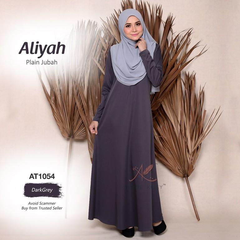 Aliyah Plain Jubah AT1054 (DarkGrey)