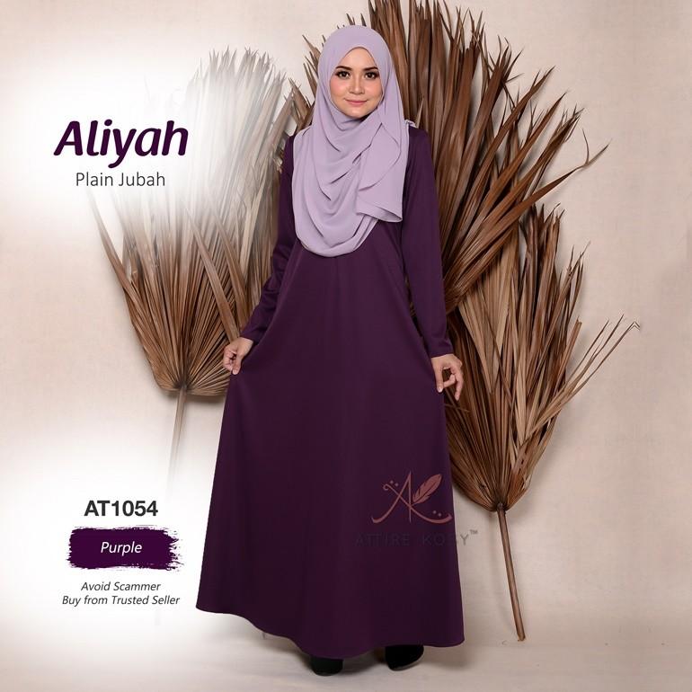 Aliyah Plain Jubah AT1054 (Purple)