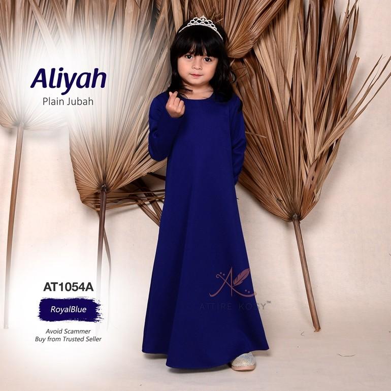 Aliyah Plain Jubah AT1054A (RoyalBlue)