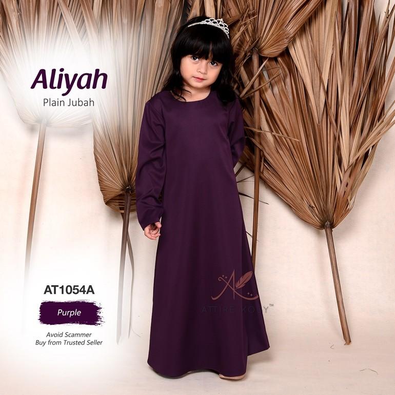 Aliyah Plain Jubah AT1054A (Purple)