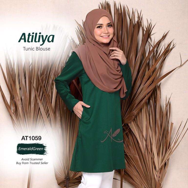 Atiliya Tunic Blouse AT1059  (EmeraldGreen)