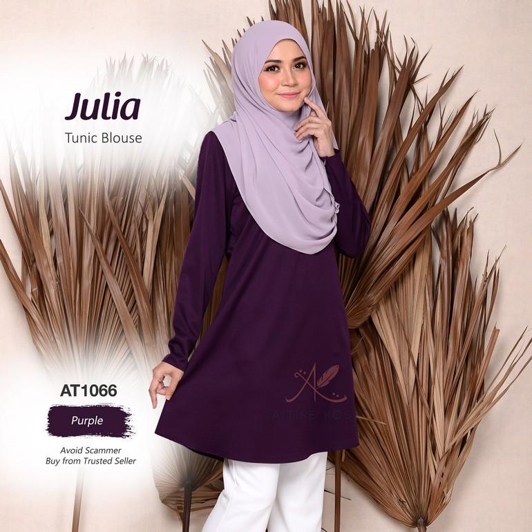 Julia Tunic Blouse AT1066  (Purple)