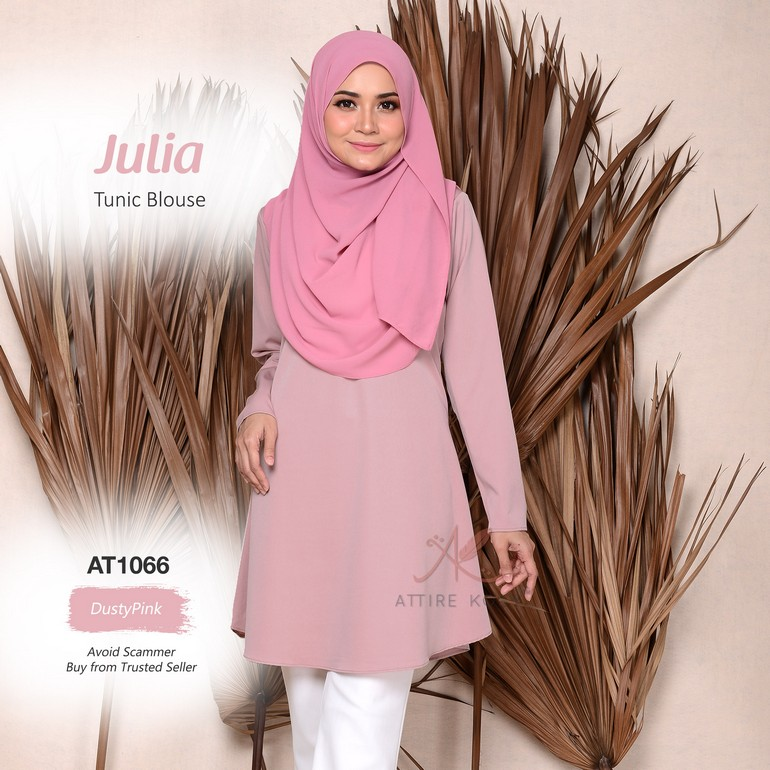 Julia Tunic Blouse AT1066  (DustyPink)