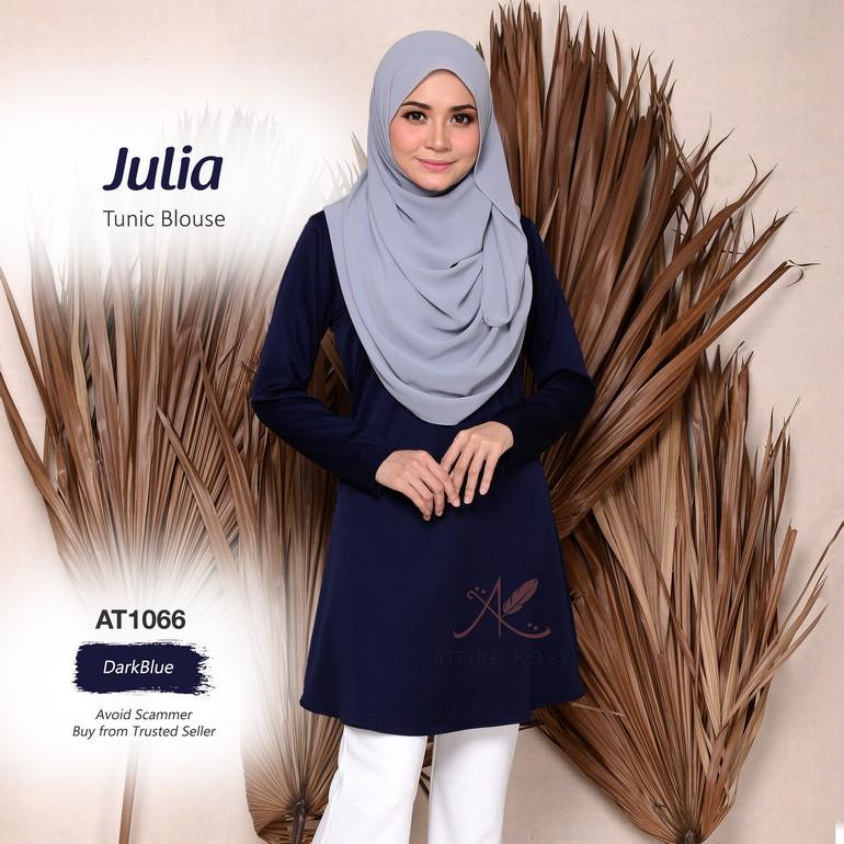 Julia Tunic Blouse AT1066  (DarkBlue)