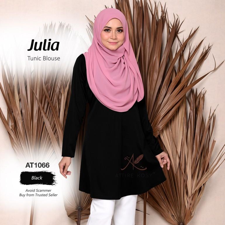 Julia Tunic Blouse AT1066  (Black)