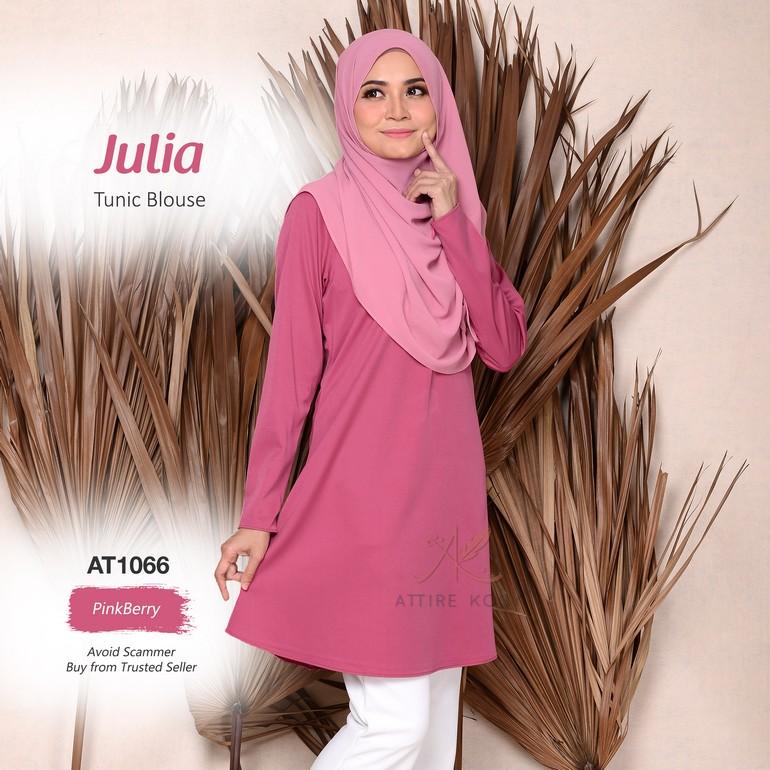 Julia Tunic Blouse AT1066  (PinkBerry)