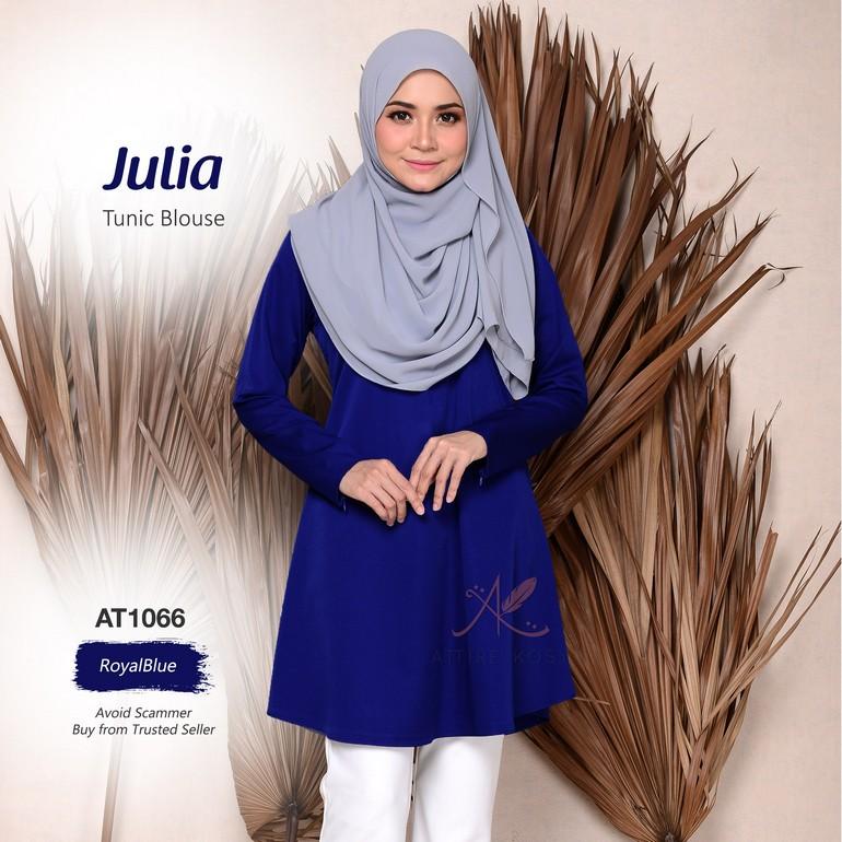Julia Tunic Blouse AT1066  (RoyalBlue)
