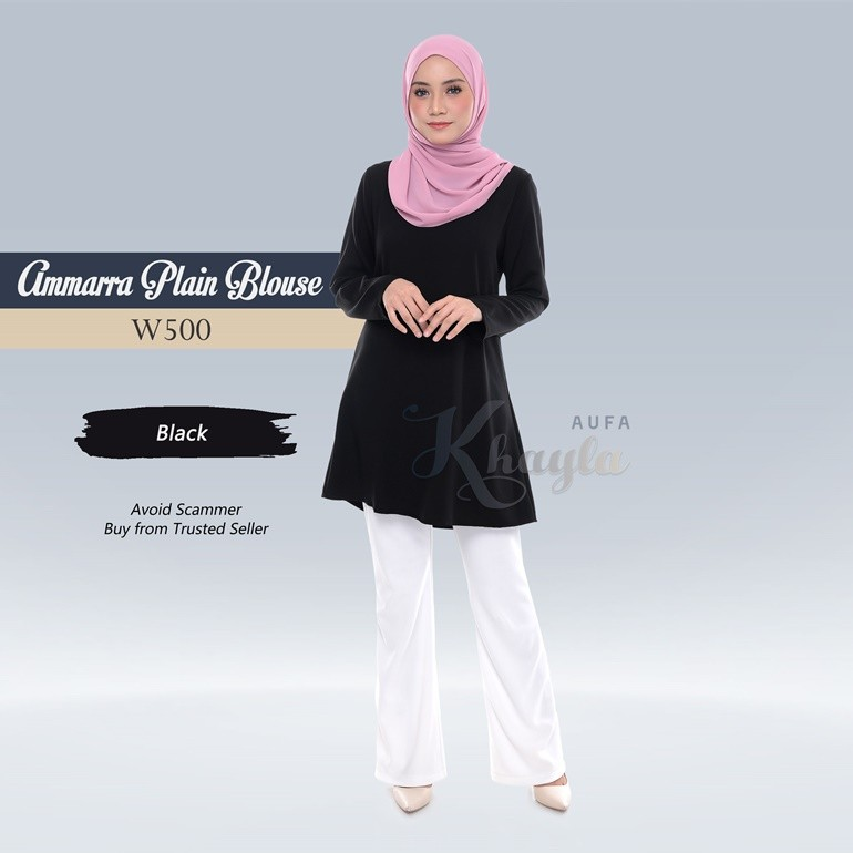 Ammarra Plain Blouse W500 (Black)