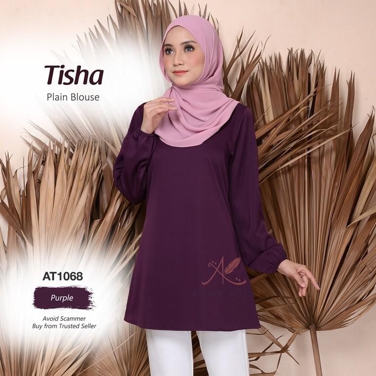 Tisha Plain Blouse AT1068 (Purple)