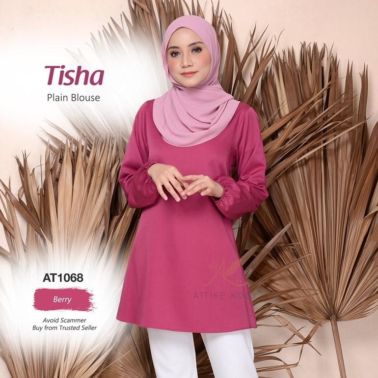 Tisha Plain Blouse AT1068 (Berry)