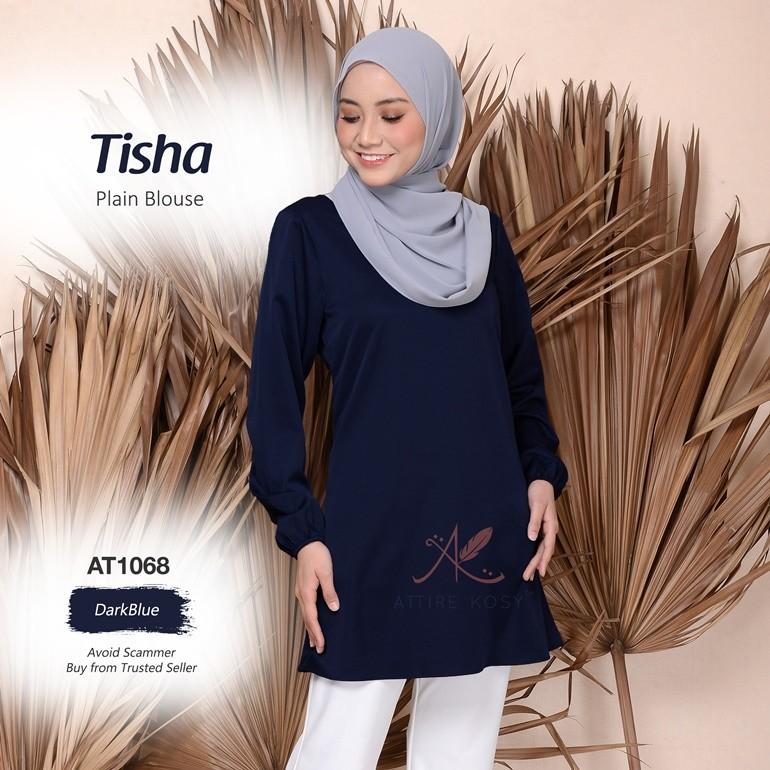 Tisha Plain Blouse AT1068 (DarkBlue)