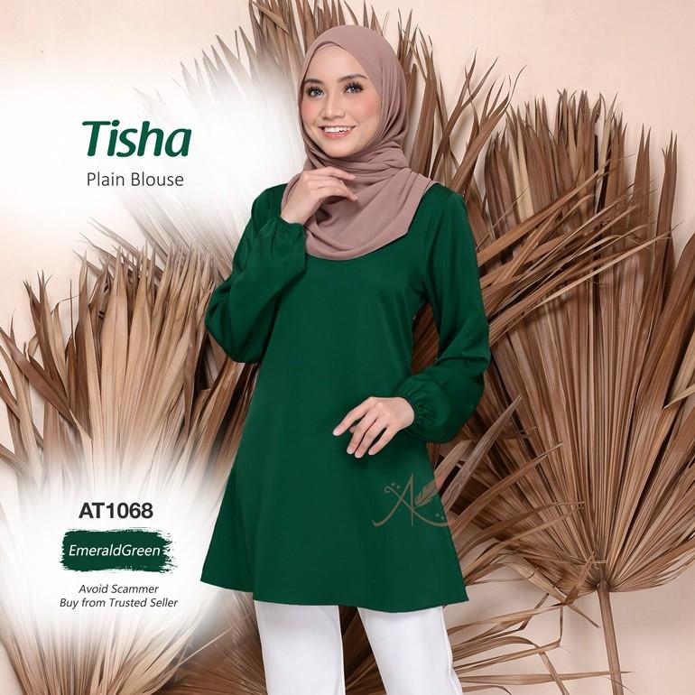 Tisha Plain Blouse AT1068 (EmeraldGreen)
